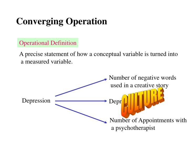 Converging Operation