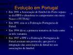 evolu o em portugal