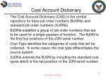 cost account dictionary