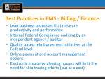 best practices in ems billing finance1