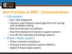 best practices in ems communications1