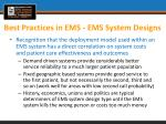 best practices in ems ems system designs3