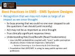 best practices in ems ems system designs4