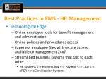 best practices in ems hr management1