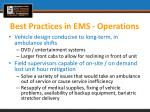best practices in ems operations