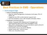 best practices in ems operations4