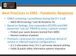best practices in ems pandemic response