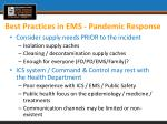 best practices in ems pandemic response1