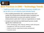 best practices in ems technology trends