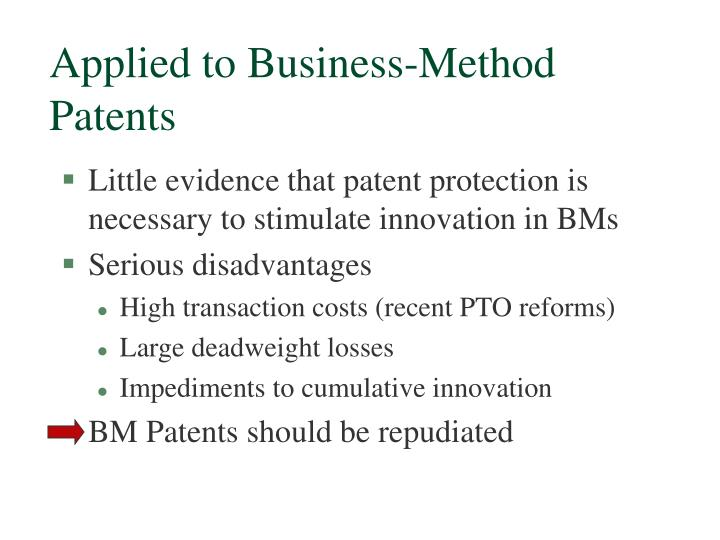 Applied to Business-Method Patents