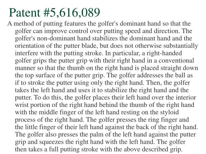 Patent #5,616,089