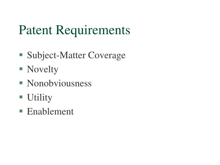 Patent Requirements