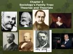 chapter 2 sociology s family tree theories and theorists
