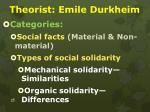 theorist emile durkheim1