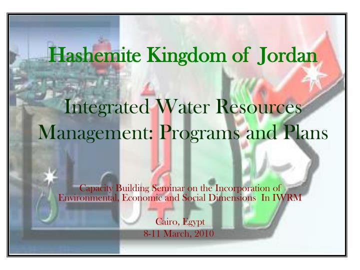 hashemite kingdom of jordan integrated water resources management programs and plans n.