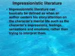 impressionistic literature