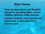 major themes1