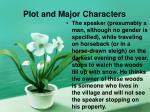 plot and major characters