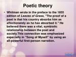 poetic theory