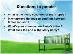 questions to ponder6