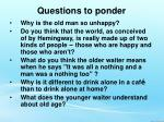 questions to ponder7