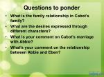 questions to ponder9