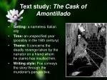 text study the cask of amontillado