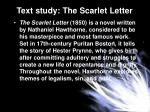 text study the scarlet letter