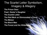 the scarlet letter symbolism imagery allegory