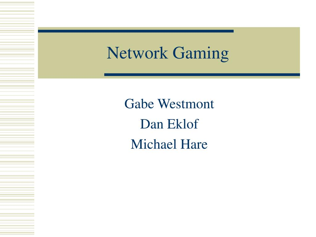 network gaming l.