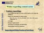 wishes regarding cement sector1