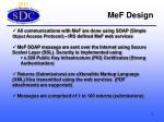 mef design