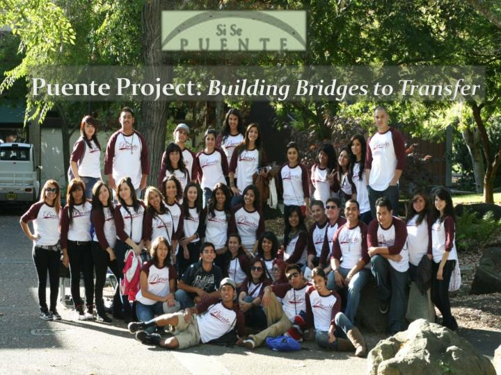 puente project building bridges to transfer n.