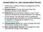 conservative vs non conservative forces