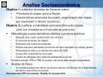 analise socioecon mica