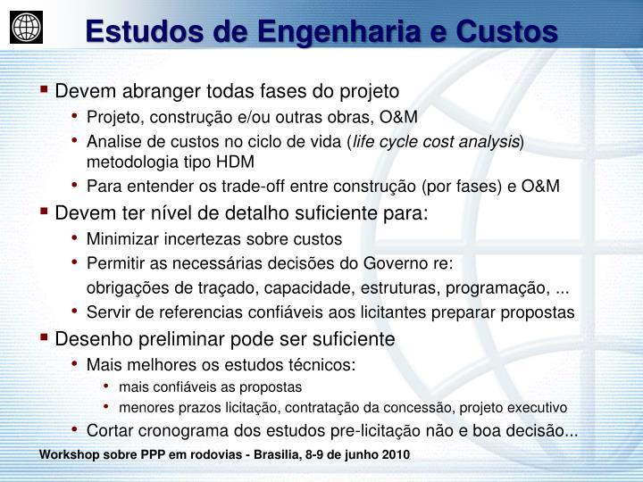 Estudos de Engenharia e Custos