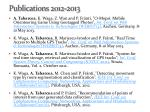 publications 2012 2013