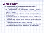 2 aid policy