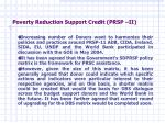 poverty reduction support credit prsp ii