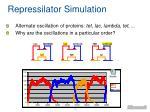 repressilator simulation