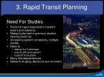 3 rapid transit planning