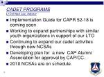 cadet programs lt col ned lee advisor