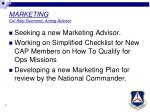 marketing col skip guimond acting advisor