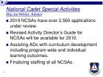 national cadet special activities maj joe winter advisor