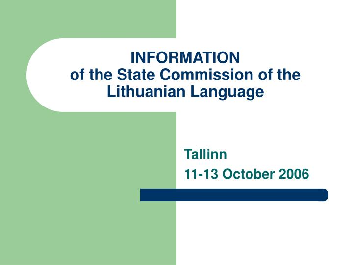 information of the state commission of the lithuanian language n.