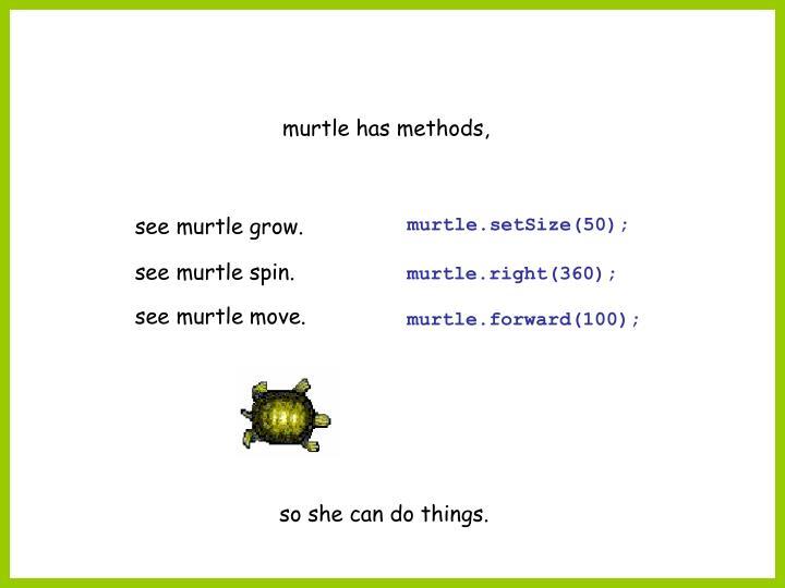 murtle has methods,