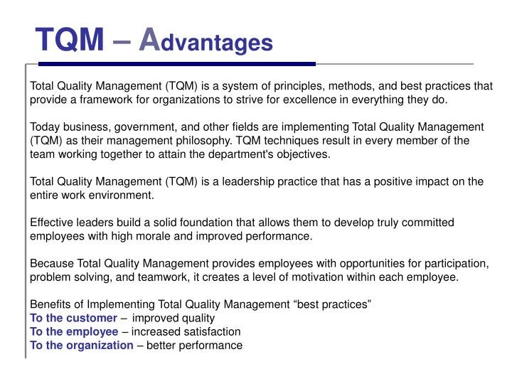 implementation of tqm in dell Relationship between implementation of tqm, jit, tpm and scm and manufacturing performance: empirical evidences from indian context   mart and dell recently, green et al (2 9.
