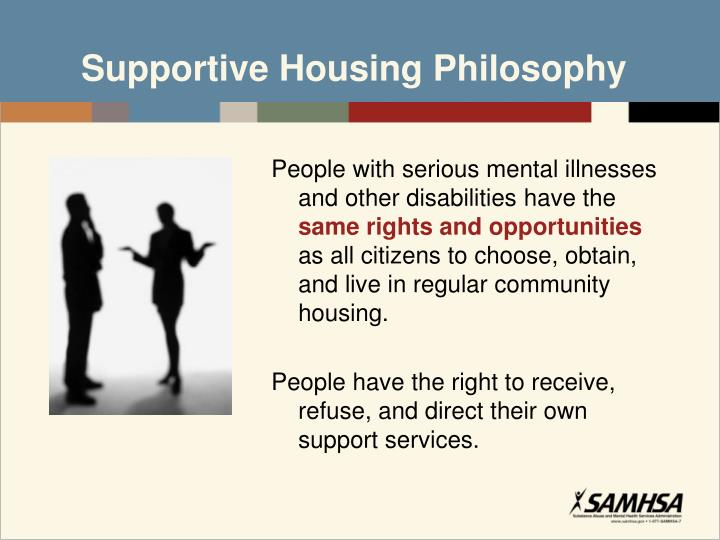 Supportive Housing Philosophy
