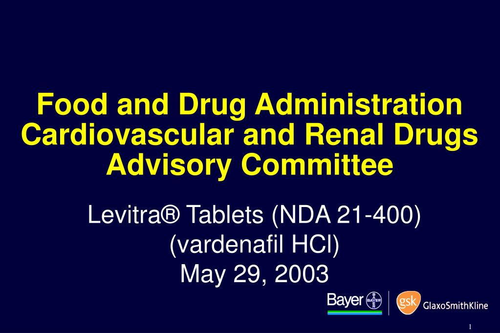 food and drug administration cardiovascular and renal drugs advisory committee l.