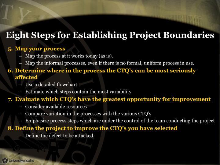 Eight Steps for Establishing Project Boundaries